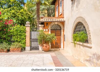 An old entrance in Lazisa, Lake Garda, Italy.