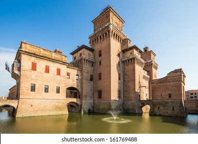 old Estense Castle in Ferrara in Italy