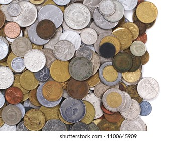 old european coins as very nice finance background