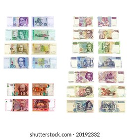 Old European currency: Deutsche Mark, Francs Francaise, Lire Italiane (All currencies NO MORE in use)
