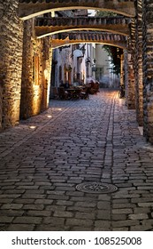 Old european street. Estonia, Tallinn