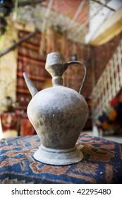 Old ewer in an arab shop