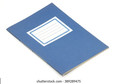 old exercise book isolated on white background