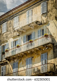 Old facade in Corfu town