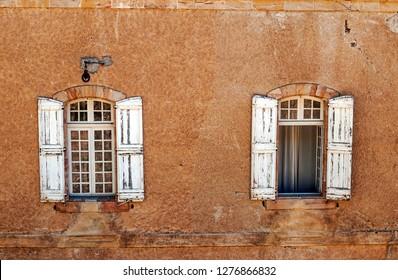 Old facade with windows