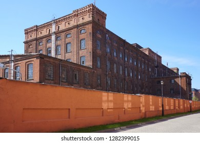 Old factory, the old architecture of the city Lodz - antique spinning -  Lodz,