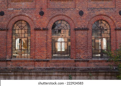 Old factory, the old architecture of the city Lodz, Poland