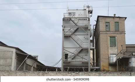 old factory industry ladder manufacturing building