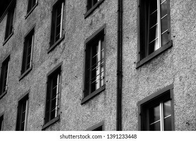 Old Factory Windows BW (Arty)