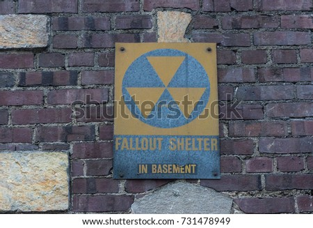 Old faded Fallout Shelter