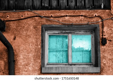 An old farm house window in an abstract style
