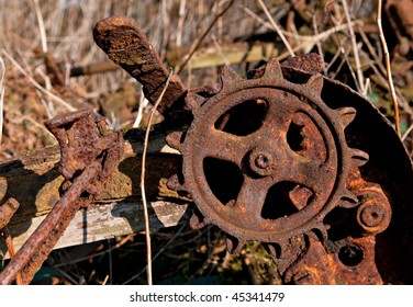 Old farm machinery detail