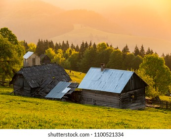 An old farm from the moutain area of Bucovina, a northern region from ROMANIA