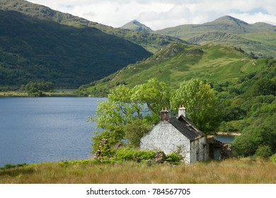 Old farm on Loch Lomond, Scotland
