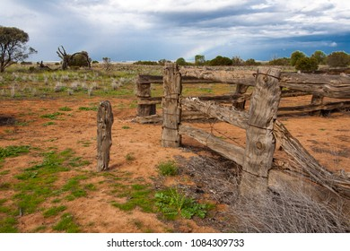 old farm in outback Australia vicinity of Lake Mungo