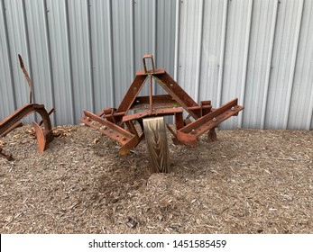 Old farm plow to work the garden