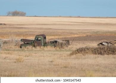 An old farm truck on the North Dakota Prairie