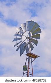 old farm wind mill