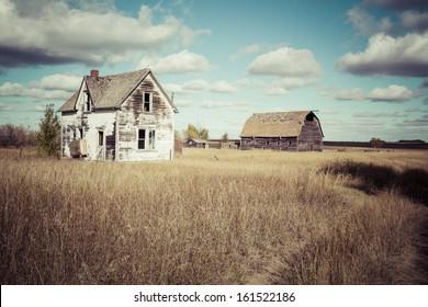 An old farm yard on the Canadian Prairies