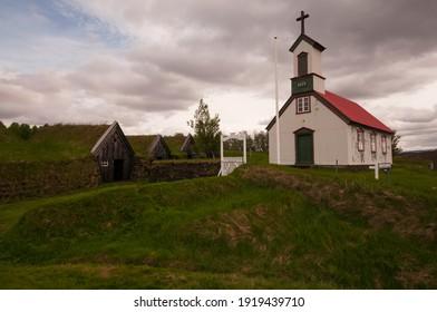 The old farmhouse at Keldur in Iceland