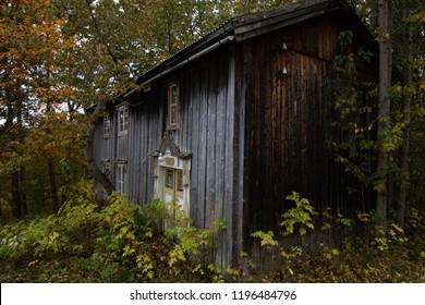 Old Farmhouse with sunburnt planks