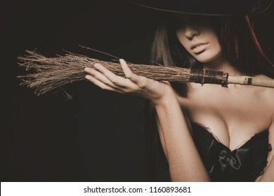 Old Fashion Image OF Halloween Party 2018, Sexy Girl At Haloween in October. Sexy Costume For Your Halloween