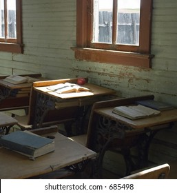 Old fashion school house desk