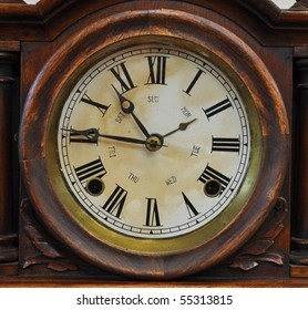 An old fashioned antique clock