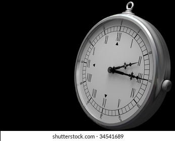 Old fashioned clock on a dark background