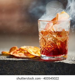 Old fashioned cocktail. Negroni
