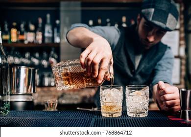 Alter Cocktail - Whiskey Drink, Gentleman Getränk