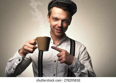 Old fashioned cup of coffee