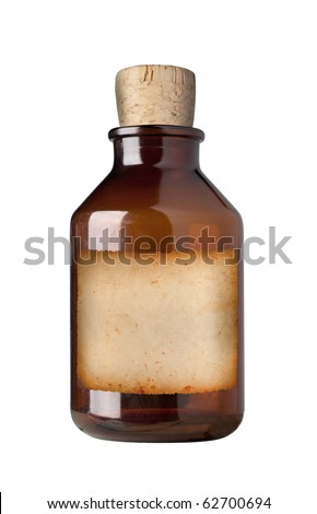 Old Fashioned Drug Bottle Label Isolated Stock Photo Edit Now