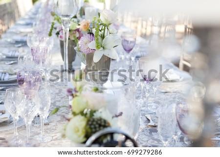 Old Fashioned Elegant Vintage Wedding Reception Stock Photo Edit