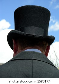 Old fashioned gentleman with top hat