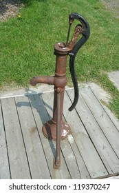 old fashioned hand pump