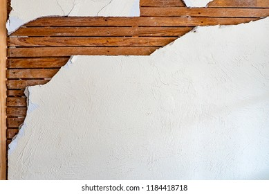 old fashioned plaster wall