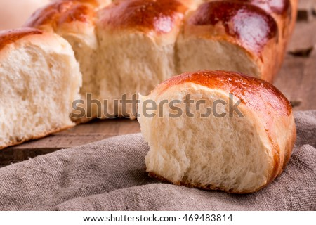 Old fashioned Pull Apart Buns. Homemade Yeast Rolls or Bread Recipe. Soft and fluffy