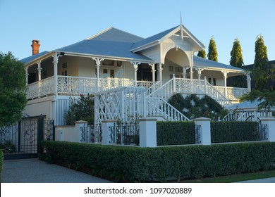 Old fashioned queenslander timber frame home