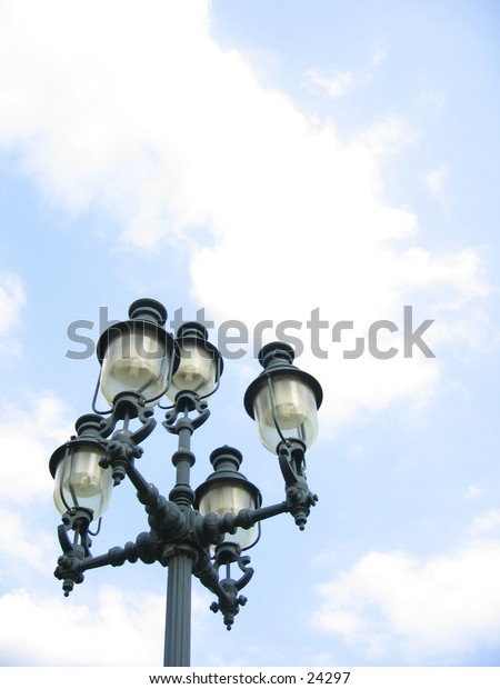 Old fashioned street light.