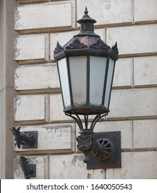 old fashioned street light on the wall - Shutterstock ID 1640050543