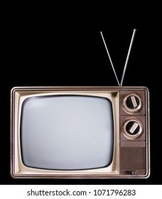 Old fashioned television with real static