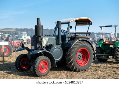 old fashioned tractor - vintage technology