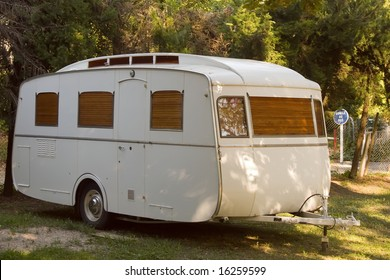 old fashioned trailer caravan
