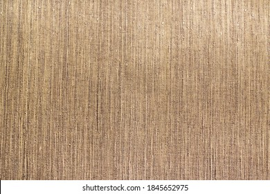 Old Fashioned Wallpaper, Fabric Wallcovering, Material Texture. Embossed Vinyl Texture Closeup Background.