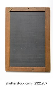 Old fashioned writing slate with etched gridlines