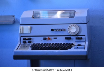 Old Fax machine , Newhaven, Uk. 25th of March 2019