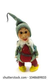 Old Felt Christmas Elf Ornament