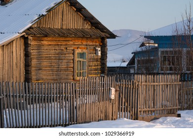 old fence of the land