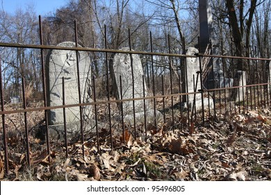 An old fenced cemetery in Plymouth Indiana